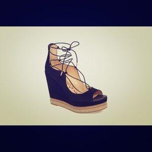 Sam Edelman Harriet Peep-Toe Wedge Sandals